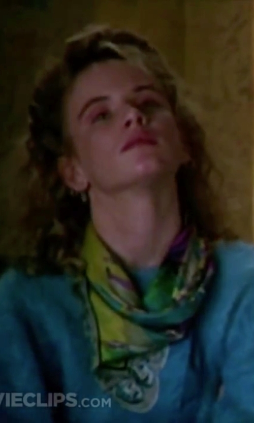 Juliette Lewis with Halogen Paisley Print Modal & Silk Scarf in Christmas Vacation