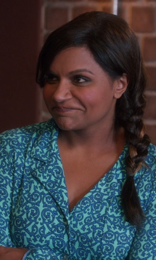 Mindy Kaling with Josie by Natori Women's Maya Notch-Collar Pajama Set in The Mindy Project