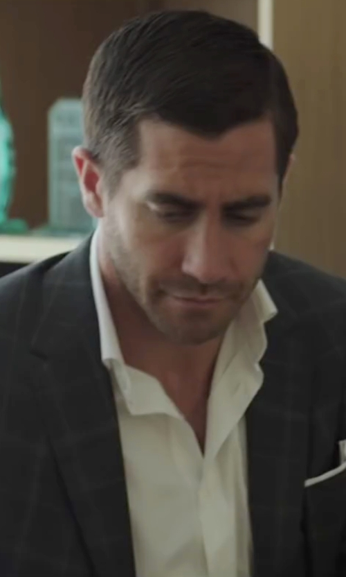 Jake Gyllenhaal with Tom Ford Classic Slim-Fit Classic Dress Shirt in Demolition