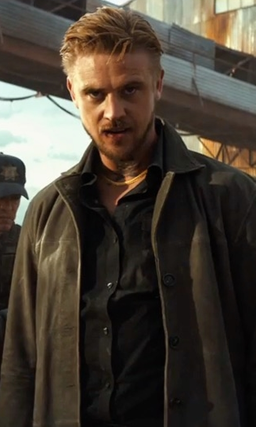 Boyd Holbrook with Raised By Wolves Elgin Mac Jacket in Logan