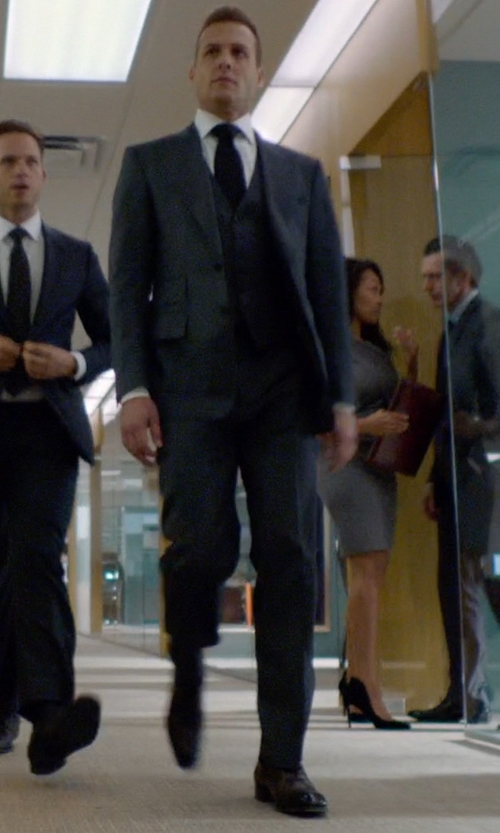 Gabriel Macht with Noah Waxman 'Odeon' Cap Toe Oxford Shoes in Suits