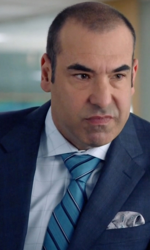 Rick Hoffman with Ted Baker London 'Seashore Stripe' Silk & Cotton Tie in Suits