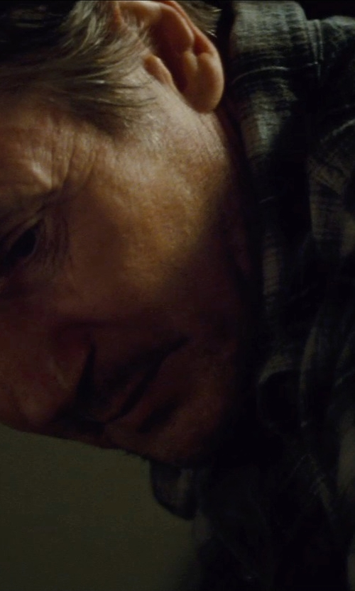 Liam Neeson with Hurley Cooper Washed Plaid Shirt in Run All Night