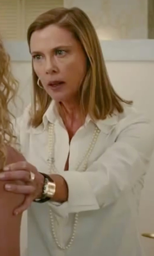 Annette Bening with Charles-Hubert Paris Stainless Steel Diamond Watch in The Women