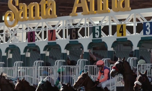 Unknown Actor with Santa Anita Park Arcadia, California in Secret in Their Eyes