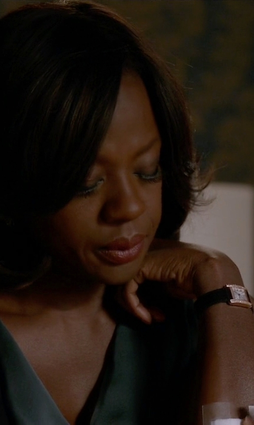 Viola Davis with Cartier Tank Americane Watch in How To Get Away With Murder