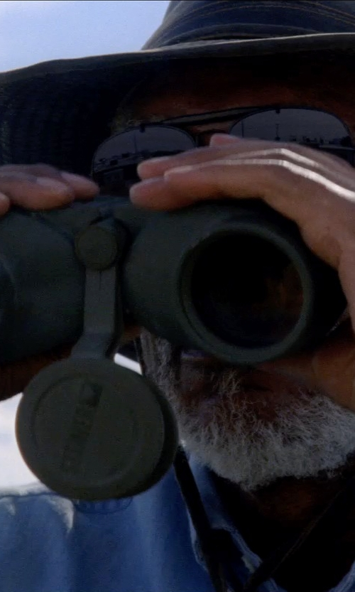 Morgan Freeman with GRBRENH High Definition Binocular Telescope in Transcendence