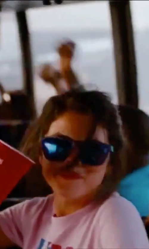Selena Gomez with Ray-Ban Mirrored Lenses Wayfarer Sunglasses in Spring Breakers