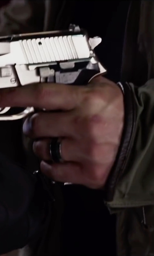 Glen Powell with Triton Men's Tungsten Carbide Ring in Ride Along 2
