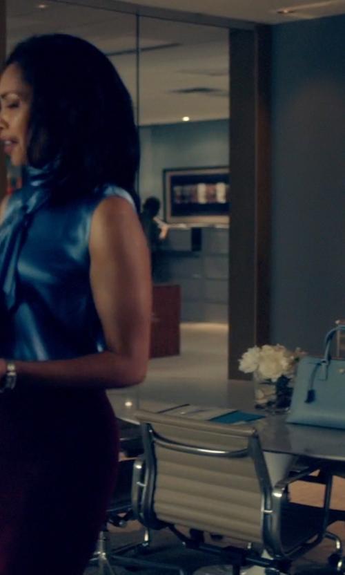 Gina Torres with Prada Saffiano Promenade Bag in Suits