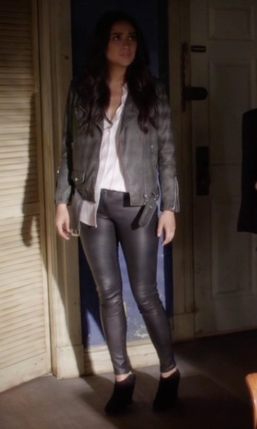 Shay Mitchell with Rag & Bone Margot Suede Ankle Boots in Pretty Little Liars