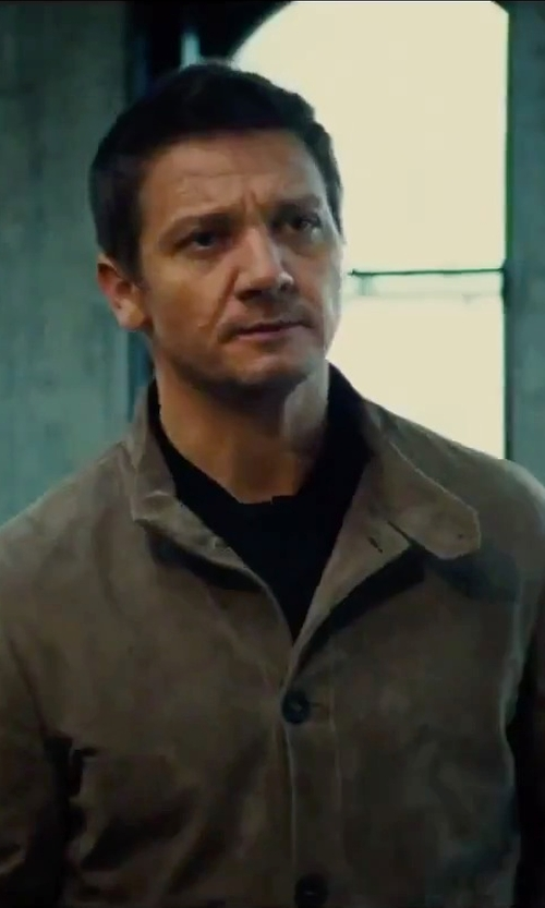 Jeremy Renner with Melindagloss Button Down Jacket in Mission: Impossible - Rogue Nation