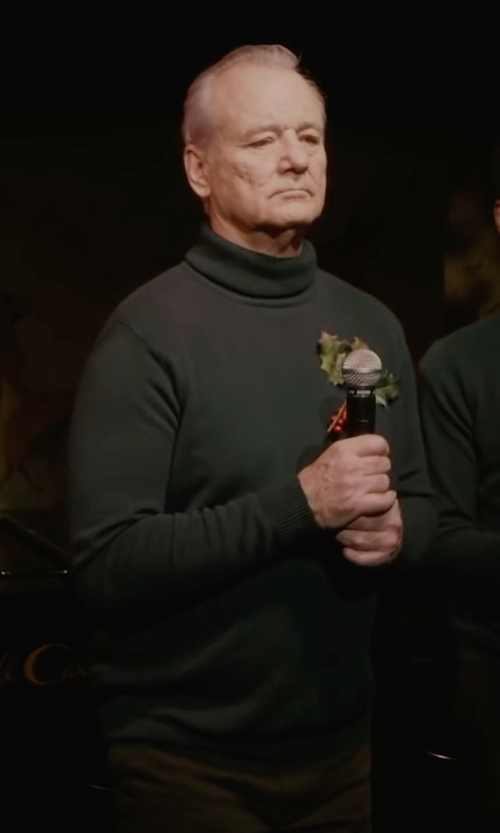Bill Murray with Trussardi Jeans Turtleneck T-Shirt in A Very Murray Christmas