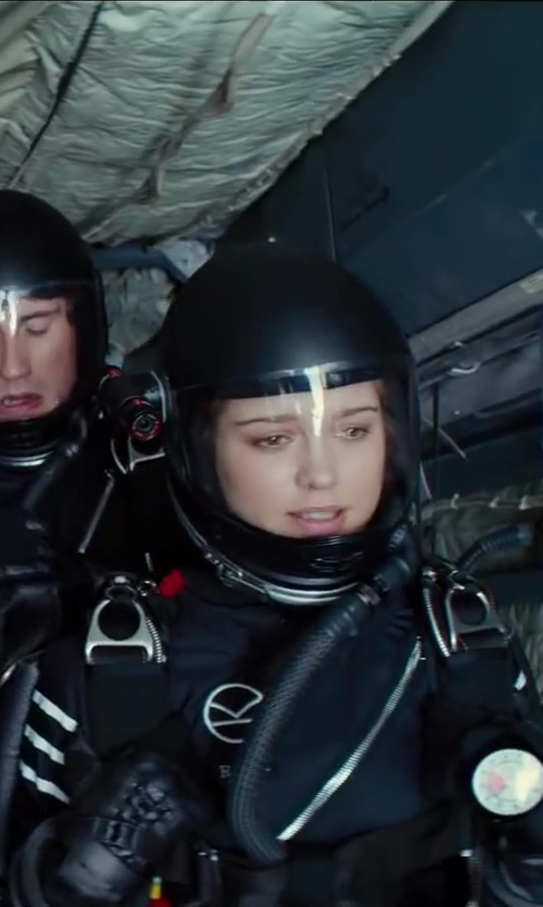 Sophie Cookson with Cookie Composites G3 Skydiving Helmet in Kingsman: The Secret Service