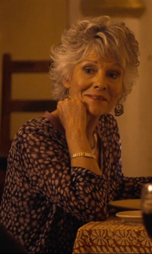 Diana Hardcastle with NYDJ Sleeve Pleat Back Blouse in The Second Best Exotic Marigold Hotel