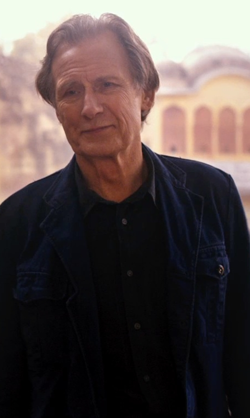 Bill Nighy with Helmut Lang Luxe Button Down Shirt in The Second Best Exotic Marigold Hotel