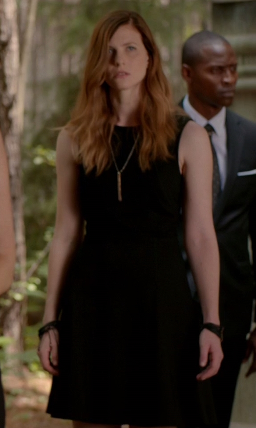 Elizabeth Blackmore with Pop CPH Sleeveless Flared Dress in The Vampire Diaries