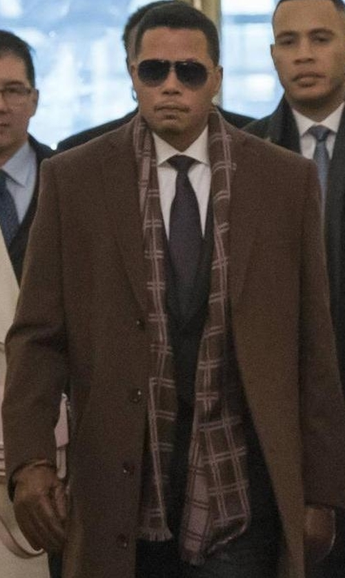 Terrence Howard  with Burberry Giant Icon Scarf in Empire