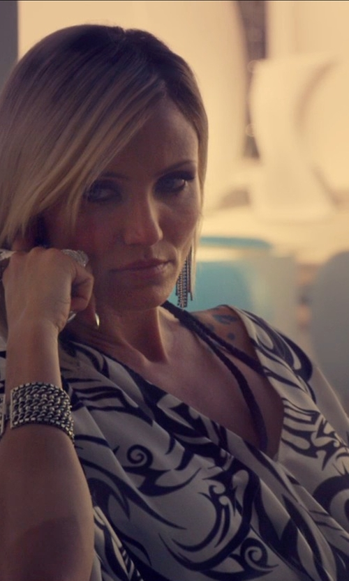 Cameron Diaz with John Hardy Classic Chain Silver Multi-Row Bracelet in The Counselor
