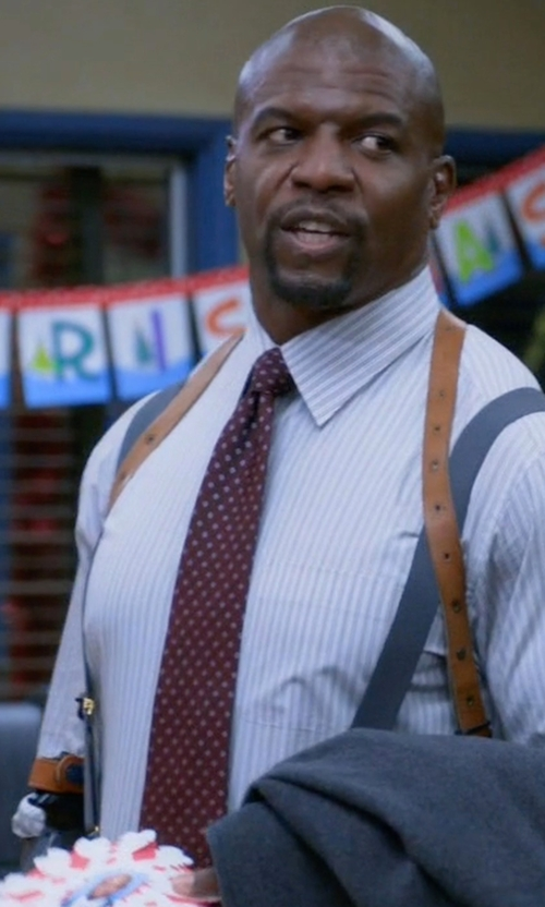 Terry Crews with John W. Nordstrom Dunella Dot Wool & Silk Tie in Brooklyn Nine-Nine