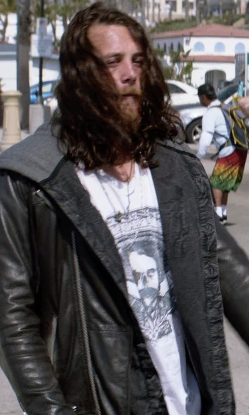 Ben Robson with Diesel L-Ride Leather Jacket in Animal Kingdom