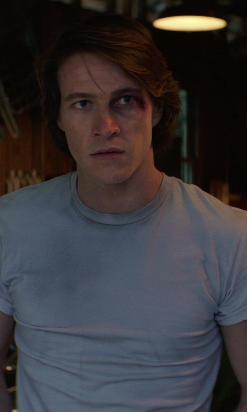 Luke Bracey with Cotton Citizen Crew T-Shirt in The Best of Me