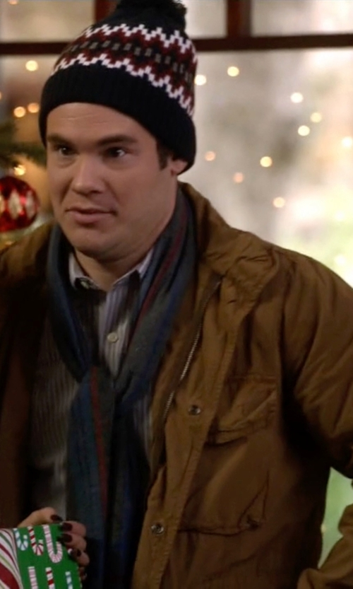 Adam DeVine with Ben Sherman Hooded Field Jacket in Modern Family