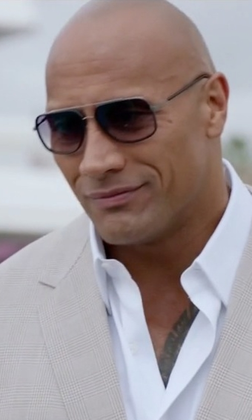 Dwayne Johnson with Dita Avocet-Two Sunglasses in Ballers