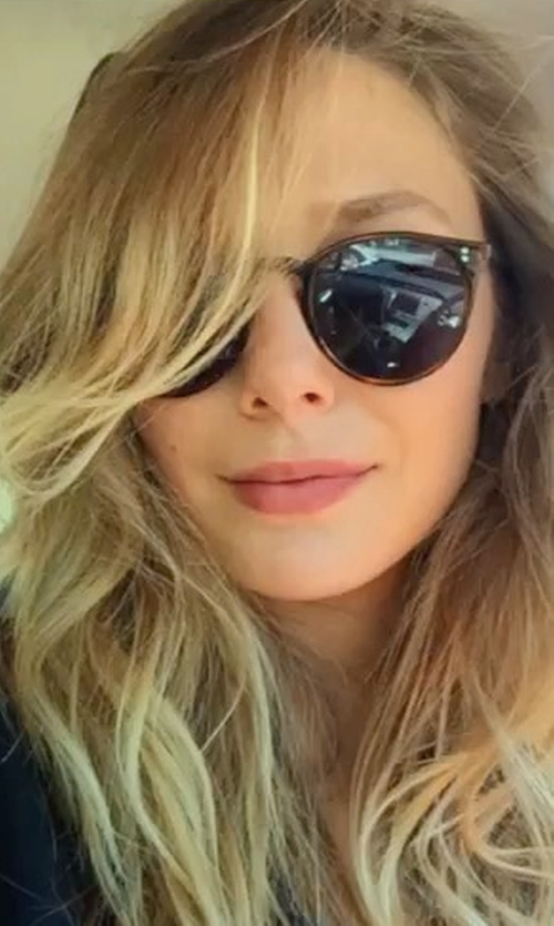 Elizabeth Olsen with Ray-Ban Erika Sunglasses in Ingrid Goes West