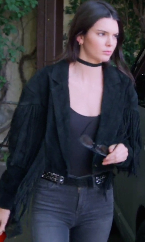 Kendall Jenner with Religion Festival Fringing Jacket in Keeping Up With The Kardashians