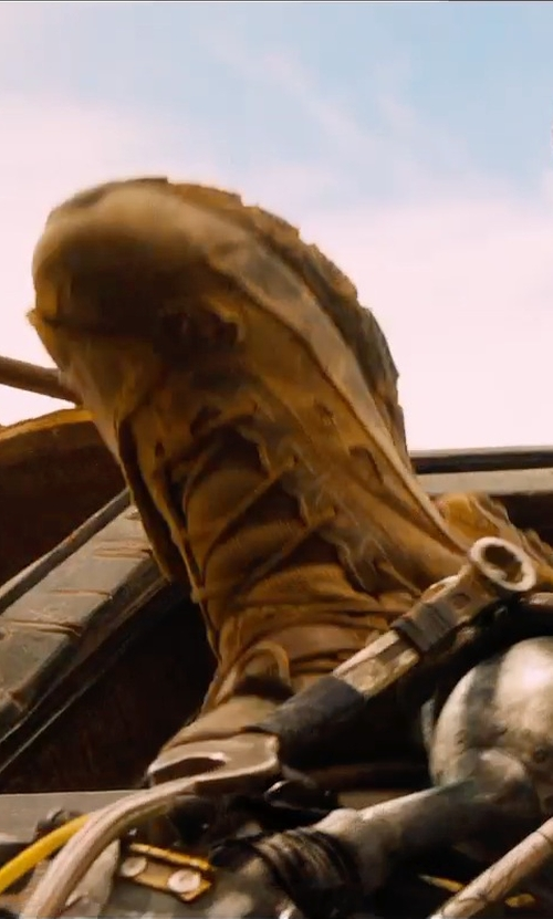 Tom Hardy with Under Armour Valsetz Tactical Boots in Mad Max: Fury Road