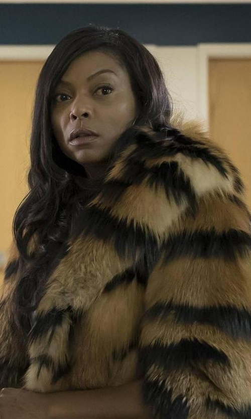 Taraji P. Henson with Cinq à Sept Windsor Fur Coat in Empire