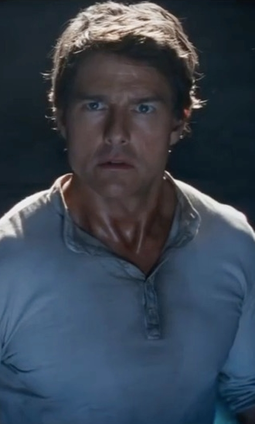 Tom Cruise with ATM Anthony Thomas Melillo Classic Long-Sleeve Henley Shirt in The Mummy