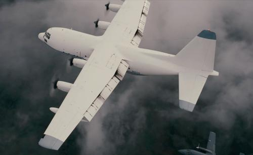 Unknown Actor with Lockheed Martin C-130 Hercules in The Dark Knight Rises