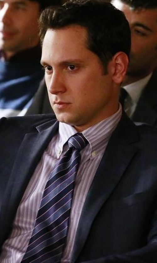 Matt McGorry with Saks Fifth Avenue Collection Samuelsohn Tonal Plaid Wool Suit in How To Get Away With Murder