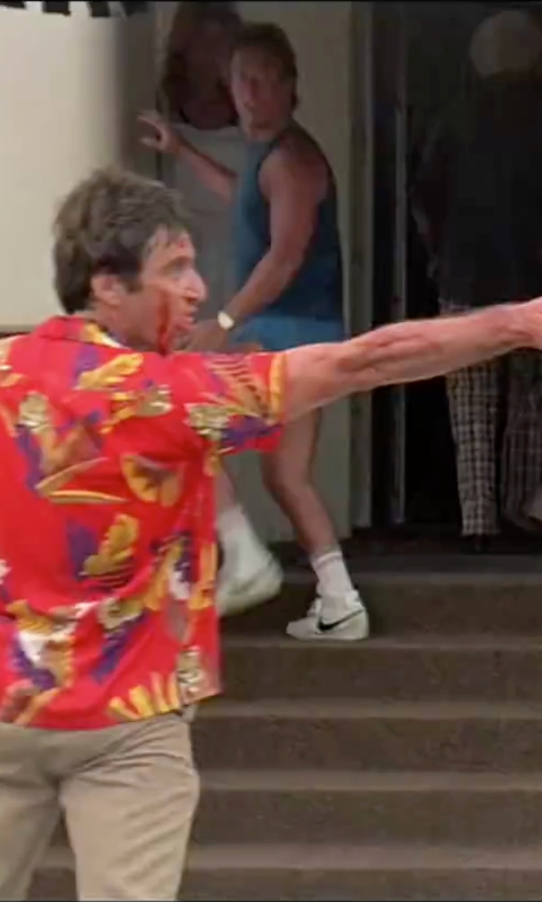 Al Pacino with Tommy Bahama Garden of Hope and Courage Silk Shirt in Scarface