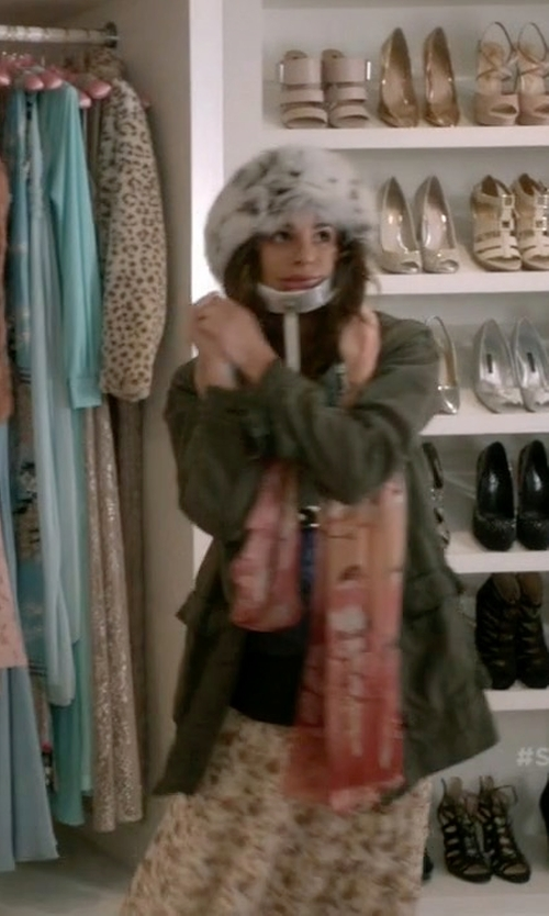 Lea Michele with Urbancode Faux Fur Hat in Scream Queens