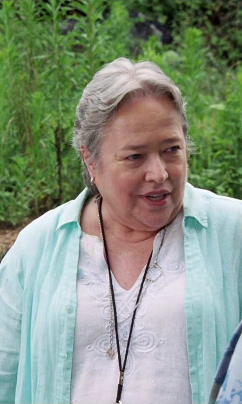 Kathy Bates with Graham and Spencer L/S Emb Blouse in Tammy
