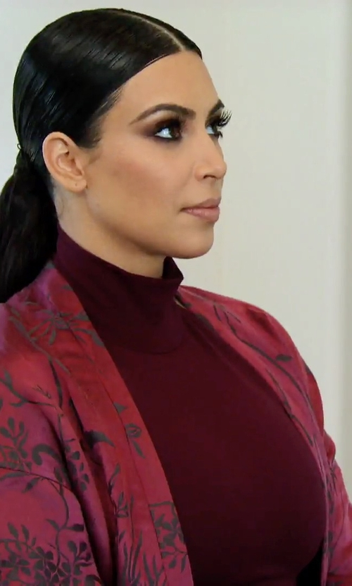 Kim Kardashian West with Haider Ackermann Silk and Linen Gown in Keeping Up With The Kardashians