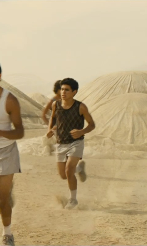 Hector Duran with Asics Men's Interval Split Shorts in McFarland, USA