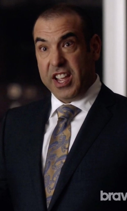 Rick Hoffman with Richard James Cotton-Poplin Shirt in Suits