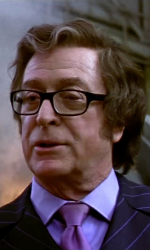 Michael Caine with Persol Rectangular Eyeglasses in Austin Powers in Goldmember