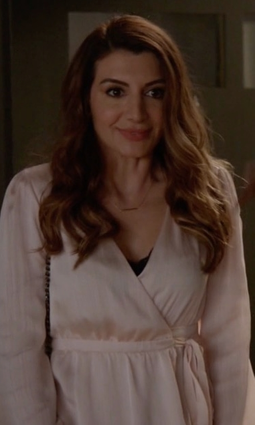 Nasim Pedrad with Rebecca Taylor Wrap Top in New Girl