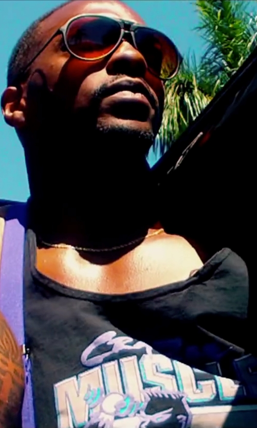 Anthony Mackie with World Gym Fat Strap Y Back Tank Top in Pain & Gain