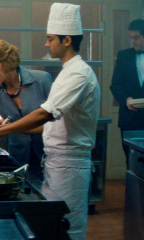Manish Dayal with Cornerstone Full Bistro Apron in The Hundred-Foot Journey