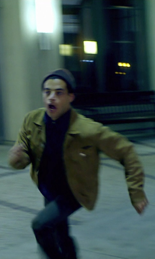 Rami Malek with AG Adriano Goldschmied Men's Corduroy Button Down Shirt in Need for Speed