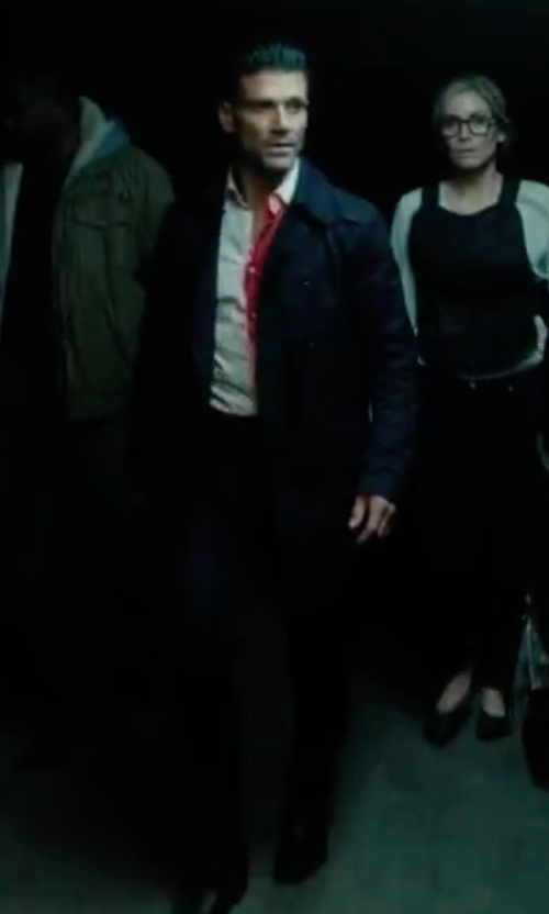 Frank Grillo with Burberry Prorsum Wool-Blend Double-Breasted Trenchcoat in The Purge: Election Year