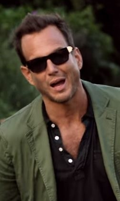 Will Arnett with Eddie Bauer Men's Field Short-Sleeve Polo Shirt in Flaked