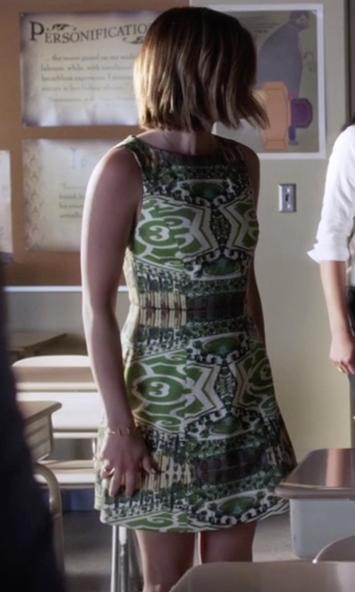 Lucy Hale with Alice + Olivia Carrie Structured Dress in Pretty Little Liars