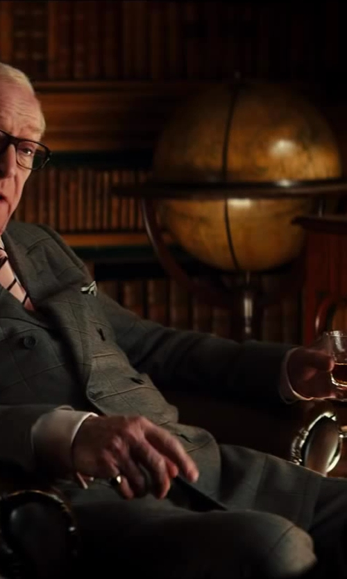 Michael Caine with Villeroy and Boch Ardmore Club 4 Old Fashioned Tumblers in Kingsman: The Secret Service